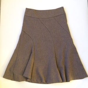 H&M Wool Skirt in Taupe
